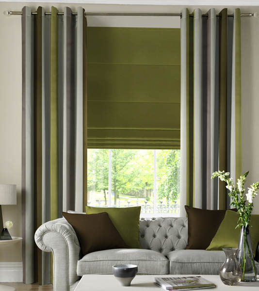 Curtains With Matching Roman Blinds Mini Blinds with Curtains